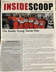 "Front page of the October 2019 edition of ""Inside Scoop"""